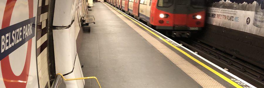Deserted Belsize Park London Tube station