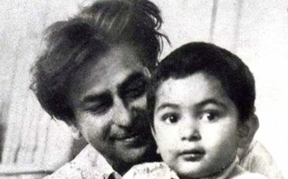 Raj Kapoor and son Rishi Kapoor