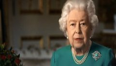 Queen Elizabterh addressing the nation