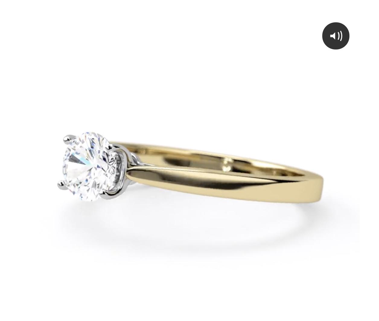 small solitarie diamond ring