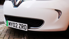 Green number plates for electric cars