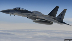 The F-15C Eagle, from the 48th Fighter Wing at RAF Lakenheath in Suffolk, crashed into North Sea