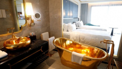 24-carat gold plated bathrooms