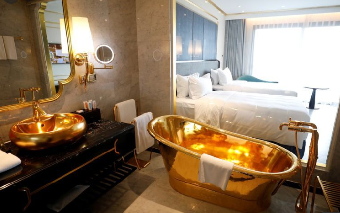 Vietnam opens the world's first 24-carat gold plated hotel