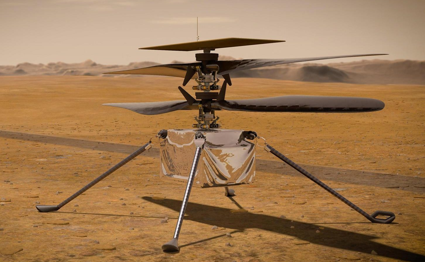 Helicopter set to be the first aircraft to another planet