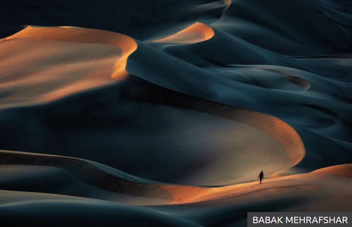 Nature winner non=professional Babak Mehrafshar's Magnificence of Desert - Iran