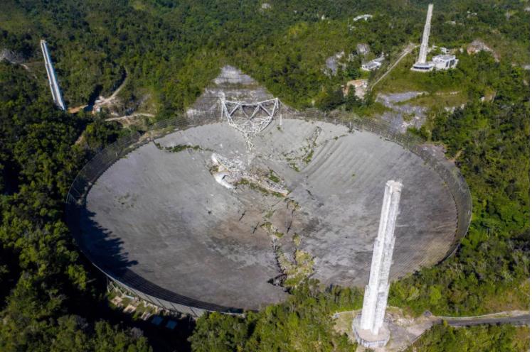 Arecibo Observatory's telescope collapsed