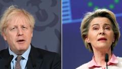 Boris Johnson and Ursla von den Leyen