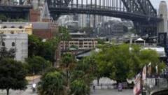 Deserted Sydney Bridge on New Year's Eve