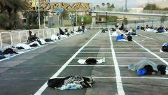 Las Vegas stadium car park tunred over to Homeless people