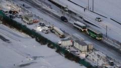 130-vehicle pile-up on exressway