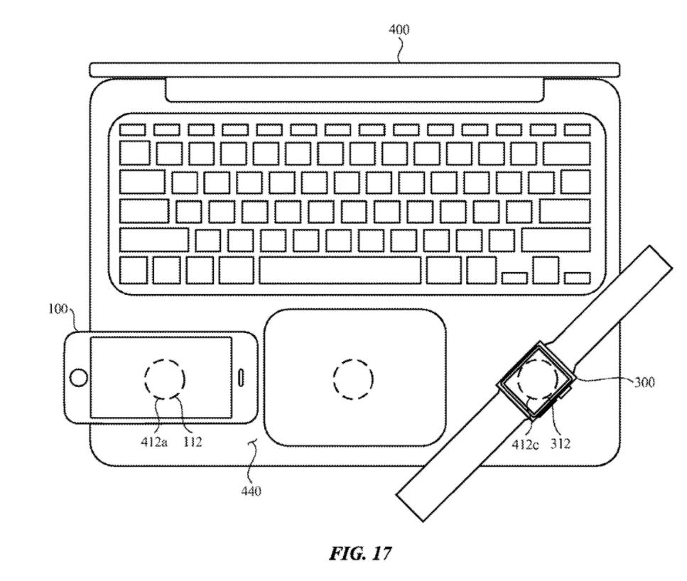 Apple Macbook Pro wirelss charging patent