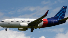 Sriwijaya Air Boeing 737-500 which crashed on Saturday