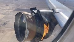 Exploded Boeing 777-200 engine