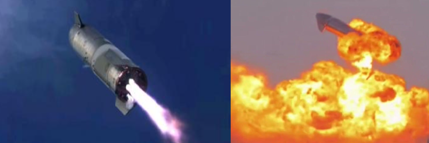 Space X's Starship vehicle blew up