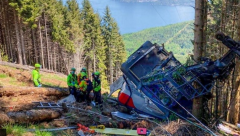 Cable car accident in Northern Italy