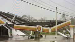 BP petrol station knocked down by Hurricane Ida