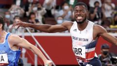 GB Men win 4x10om  relay Olympic silver medal
