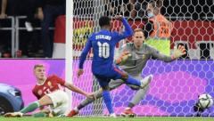 Raheem Sterling's opening goal for England