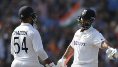 Pant and Thakur put on 100 runs for the seventh wicket