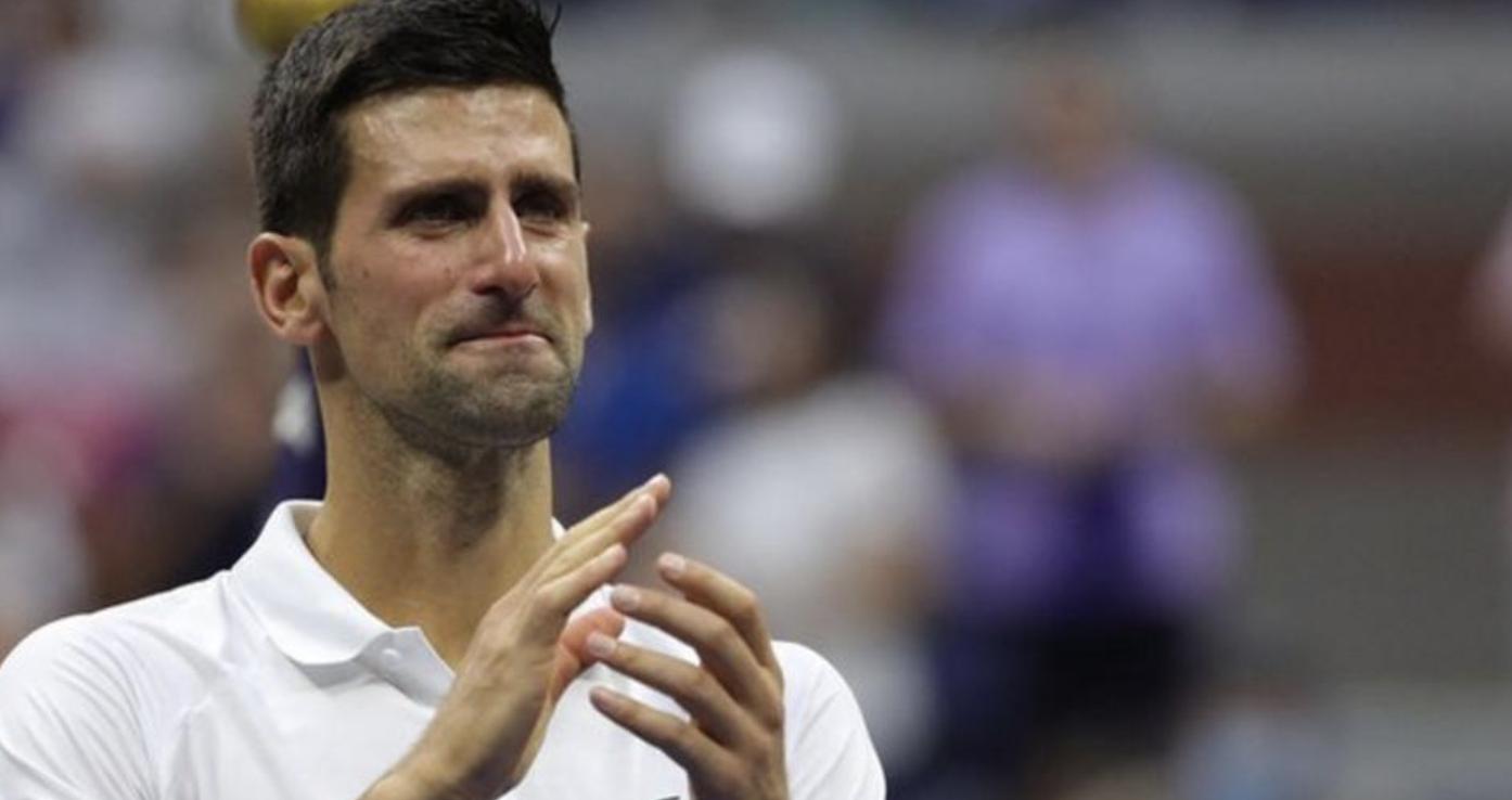 A dejected Djokovic
