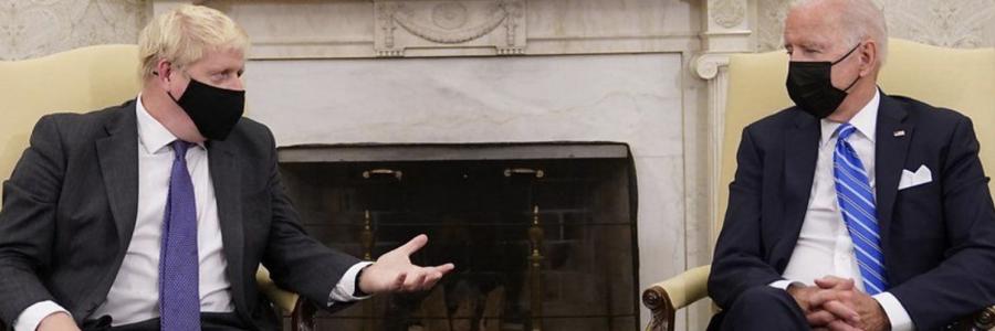 Boris Johnson and Joe Biden hold face-to-face talks.